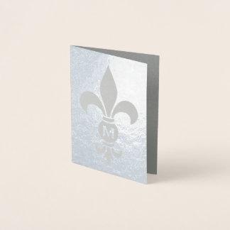 (紋章の)フラ・ダ・リのモノグラムのエレガントなミニマリストの実質ホイル 箔カード