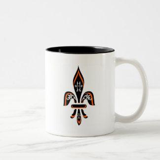 (紋章の)フラ・ダ・リの三色刷 ツートーンマグカップ