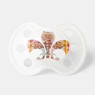 (紋章の)フラ・ダ・リの宝石パターンによっては花の宝石のおもしろいが開花します おしゃぶり
