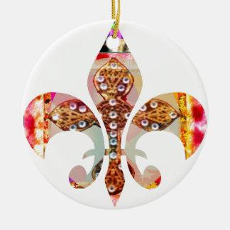(紋章の)フラ・ダ・リの宝石パターンによっては花の宝石のおもしろいが開花します セラミックオーナメント