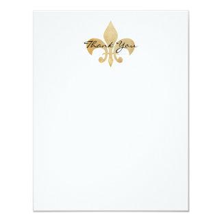 (紋章の)フラ・ダ・リの平らなサンキューカード 10.8 X 14 インビテーションカード