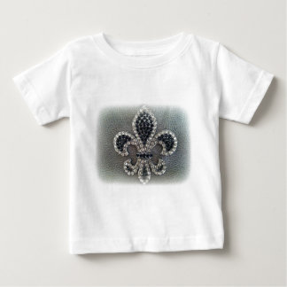 (紋章の)フラ・ダ・リの水晶無光沢のプリント ベビーTシャツ