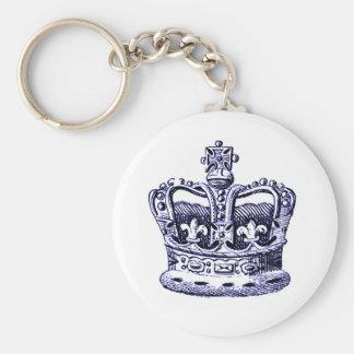 (紋章の)フラ・ダ・リの王冠および青の十字のプリント キーホルダー
