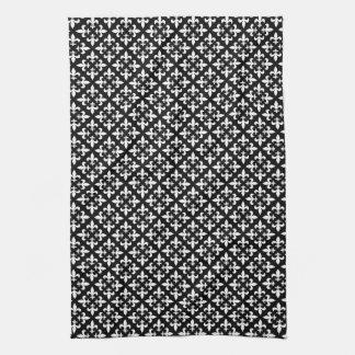 (紋章の)フラ・ダ・リの白黒パリの優雅 キッチンタオル