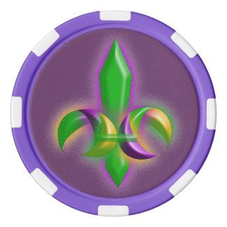 (紋章の)フラ・ダ・リの謝肉祭のスタイルのパーティーのポーカー用のチップ ポーカーチップ