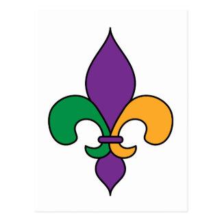 (紋章の)フラ・ダ・リの謝肉祭の郵便はがき ポストカード