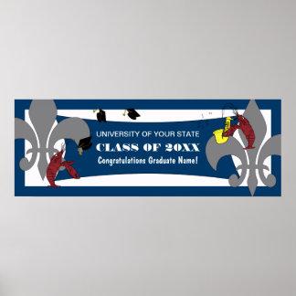 (紋章の)フラ・ダ・リのCrawfishの卒業 ポスター