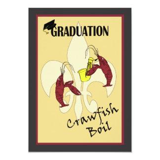 (紋章の)フラ・ダ・リのCrawfishの沸騰卒業の招待状 カード