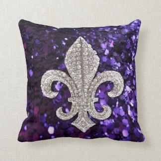 (紋章の)フラ・ダ・リのFlorニュー・オーリンズの宝石の輝きの枕 クッション