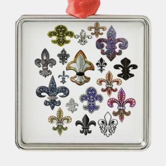 (紋章の)フラ・ダ・リのFlorニュー・オーリンズの宝石の輝き メタルオーナメント