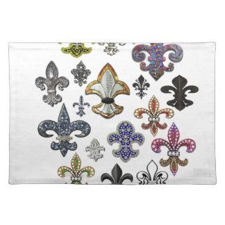 (紋章の)フラ・ダ・リのFlorニュー・オーリンズの宝石の輝き ランチョンマット