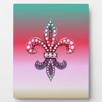 (紋章の)フラ・ダ・リのFlorニュー・オーリンズの数々のなピンクの宝石 フォトプラーク