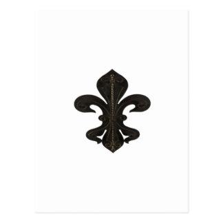 (紋章の)フラ・ダ・リのFlorニュー・オーリンズの素朴な錆ついた ポストカード