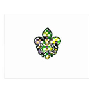 (紋章の)フラ・ダ・リのFlorニュー・オーリンズの謝肉祭 ポストカード