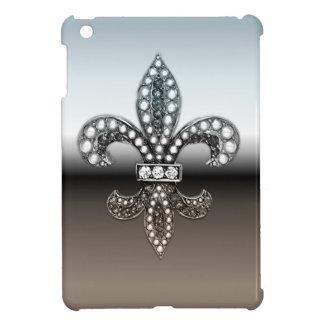 (紋章の)フラ・ダ・リのFlorニュー・オーリンズの銀製の黒 iPad Miniカバー