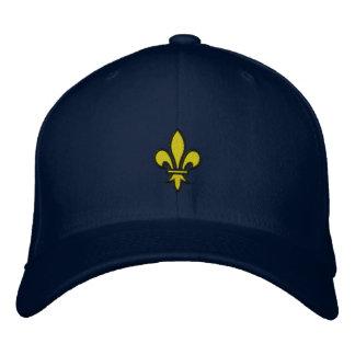 (紋章の)フラ・ダ・リは帽子を刺繍しました 刺繍入りキャップ