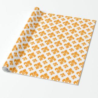 (紋章の)フラ・ダ・リ2のオレンジ ラッピングペーパー