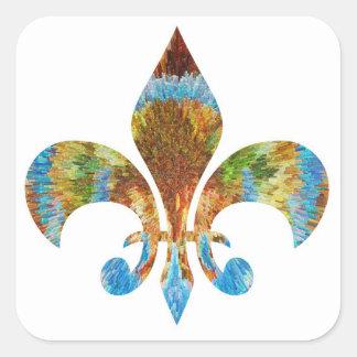 (紋章の)フラ・ダ・リ:  刻まれる金ゴールドnの銀 スクエアシール