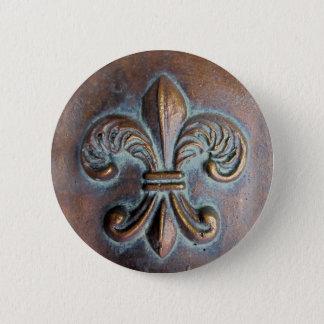 (紋章の)フラ・ダ・リ、印刷される老化させた銅一見 缶バッジ
