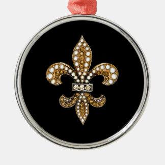 (紋章の)フラ・ダ・リFlorニュー・オーリンズは金ゴールドをカスタマイズ メタルオーナメント