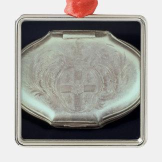 紋章付き外衣との箱のエンボス、c.1820をかぎたばこを吸って下さい メタルオーナメント