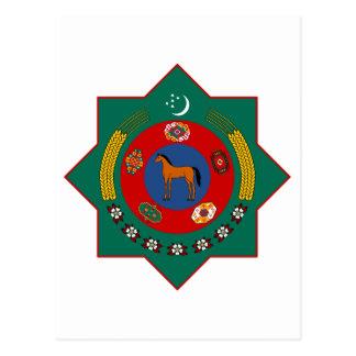 紋章学の記号タキマンニスタンの公式の紋章付き外衣 ポストカード