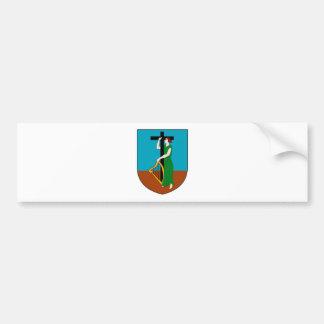 紋章学の記号モンセラートの公式の紋章付き外衣 バンパーステッカー