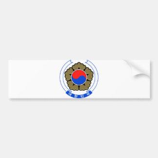 紋章学の記号南朝鮮の公式の紋章付き外衣 バンパーステッカー