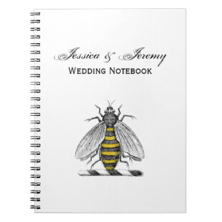 紋章CプレッピーなHeraldicヴィンテージの蜂の紋章付き外衣 ノートブック