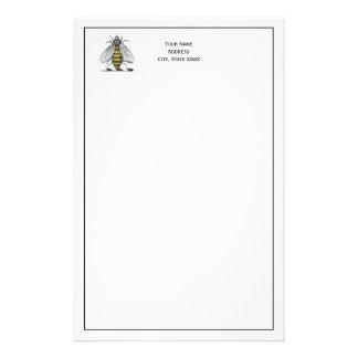 紋章CプレッピーなHeraldicヴィンテージの蜂の紋章付き外衣 便箋