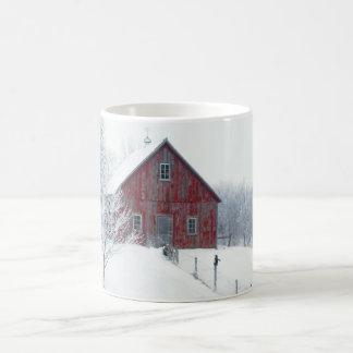納屋との冬フロスト コーヒーマグカップ