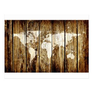 納屋の世界地図2 ポストカード