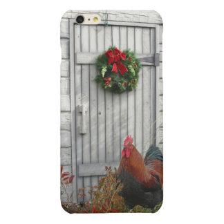 納屋の大戸のクリスマスの黒の銅Marans Iphone Cas