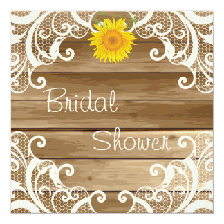 Barn Wood Sunflowers and Vintage Lace Bridal Showe