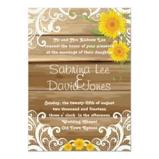 Barn Wood Sunflowers and Vintage Lace Wedding