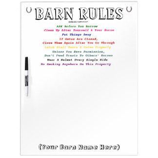 納屋の規則 ホワイトボード
