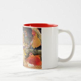 納屋の鶏 ツートーンマグカップ
