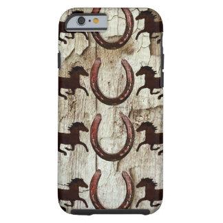納屋木iPhone6ケースの馬の蹄鉄 ケース