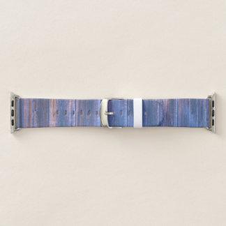 納屋板Appleのかわいらしく鮮やかで青い腕時計 Apple Watchバンド