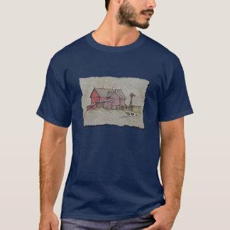 納屋風車及び牛 Tシャツ