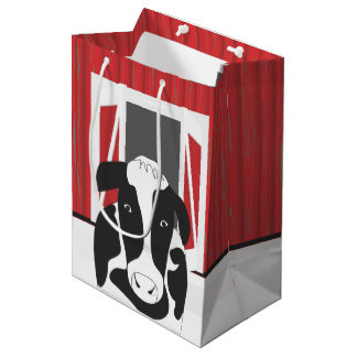 納屋MGBを持つ国牛 ミディアムペーパーバッグ