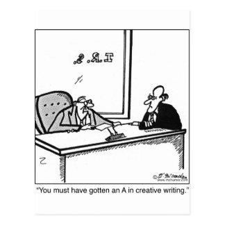 納税申告の創造的な執筆 ポストカード