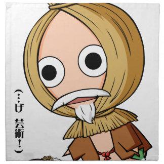 納豆問屋のご隠居様 英語物語 Mito Ibaraki Yuru-chara ナプキンクロス