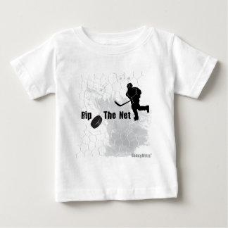 純ホッケーを裂いて下さい ベビーTシャツ