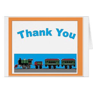 純真な列車は感謝していしています グリーティングカード