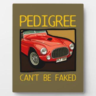 純種レースカー赤くクラシックなスポーツ・カー フォトプラーク