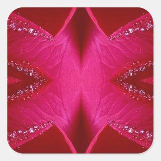 純粋なバラの花びらの芸術- Blood Red n PinkRose スクエアシール