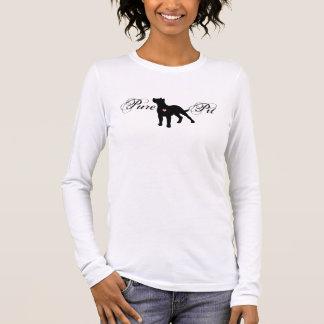 純粋なピットの女性の長い袖のTシャツ Tシャツ
