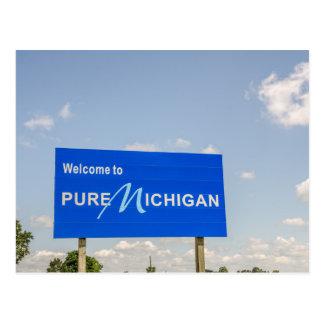 純粋なミシガン州の青の印への歓迎 ポストカード