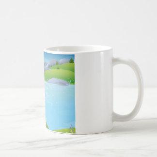 純粋な井戸の春のデザイン コーヒーマグカップ